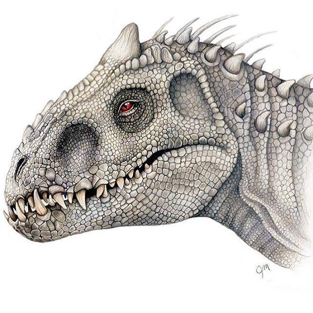 indominus rex drawing by juliannamaston jurassicworld