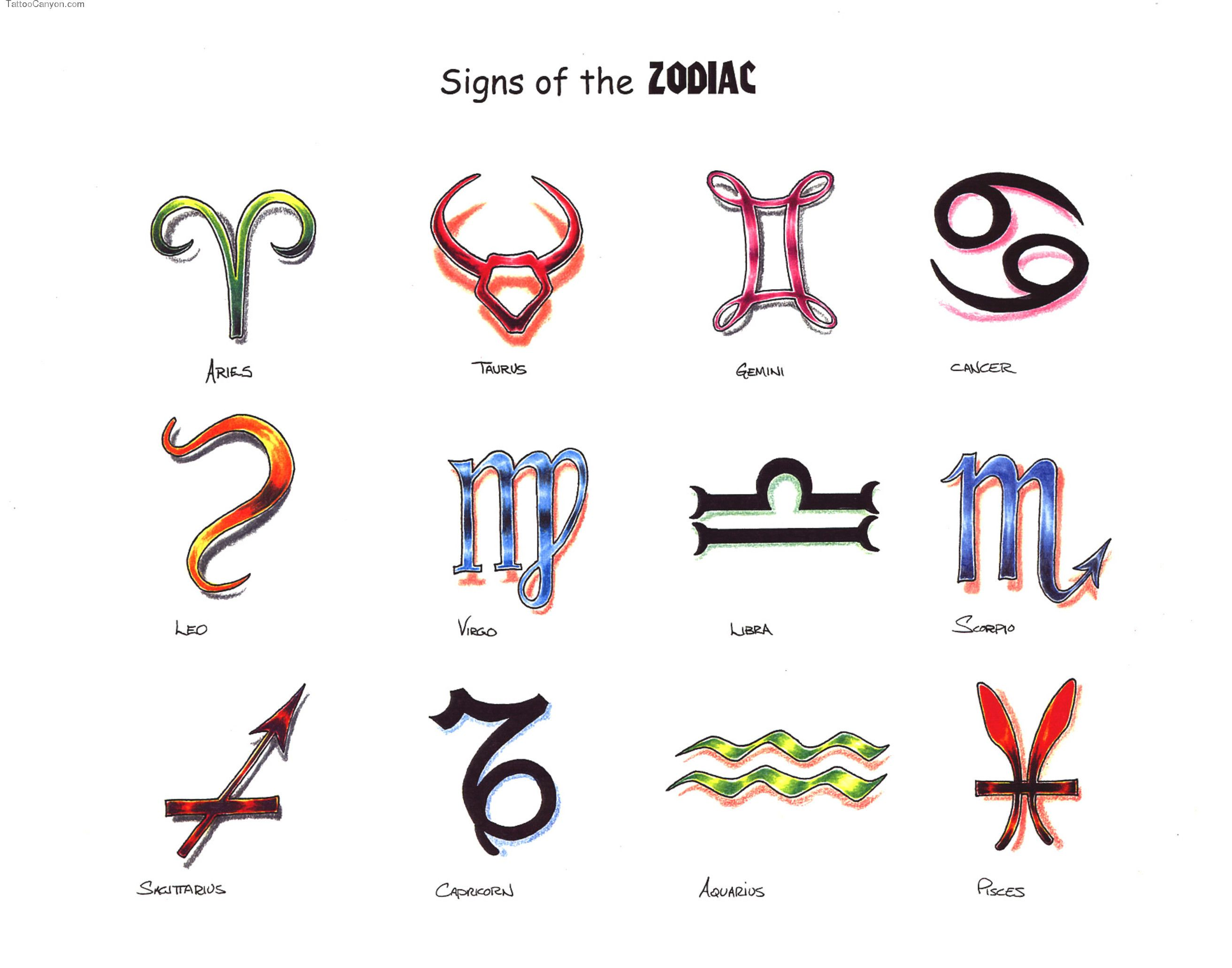 Sign tattoo designs - The Pretty Zodiac Sign Tattoo Design That Can Choose For Neck Tattoo