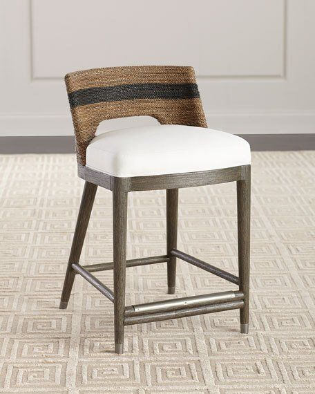 1x6 Rope Accent Chair: Elijah Palecek Rope Counter Stool