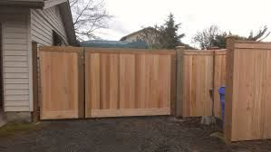 Cedar Fence Single And Double Gate Hidden Hinges Hout