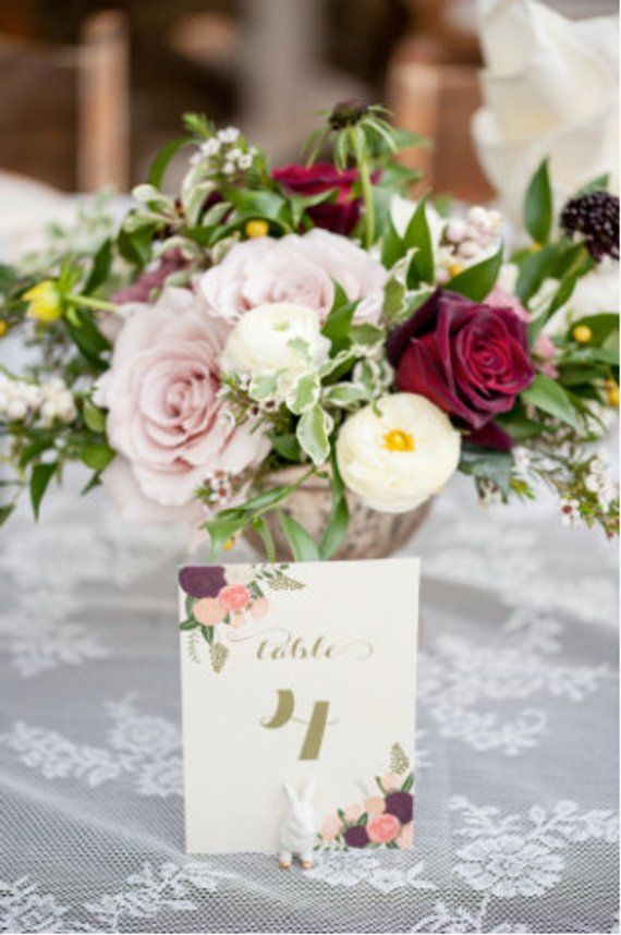 printable wedding table numbers 1 20 floral table numbers vintage rh pinterest com