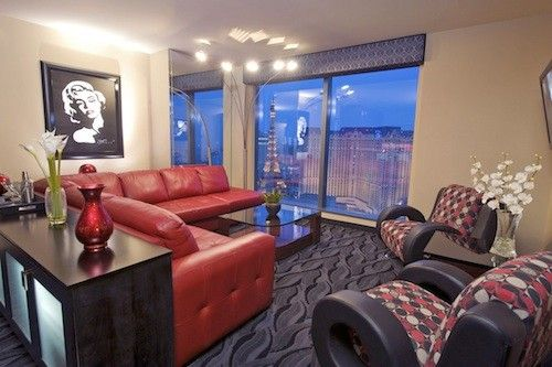 West Gate Hotel Planet Hollywood In Las Vegas Corner Suite With Floor To Ceiling