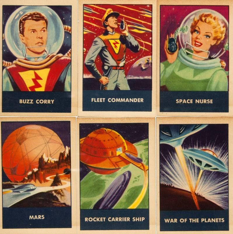 Space Patrol Wheat Chex / Rice Chex Trading Cards, 1950's