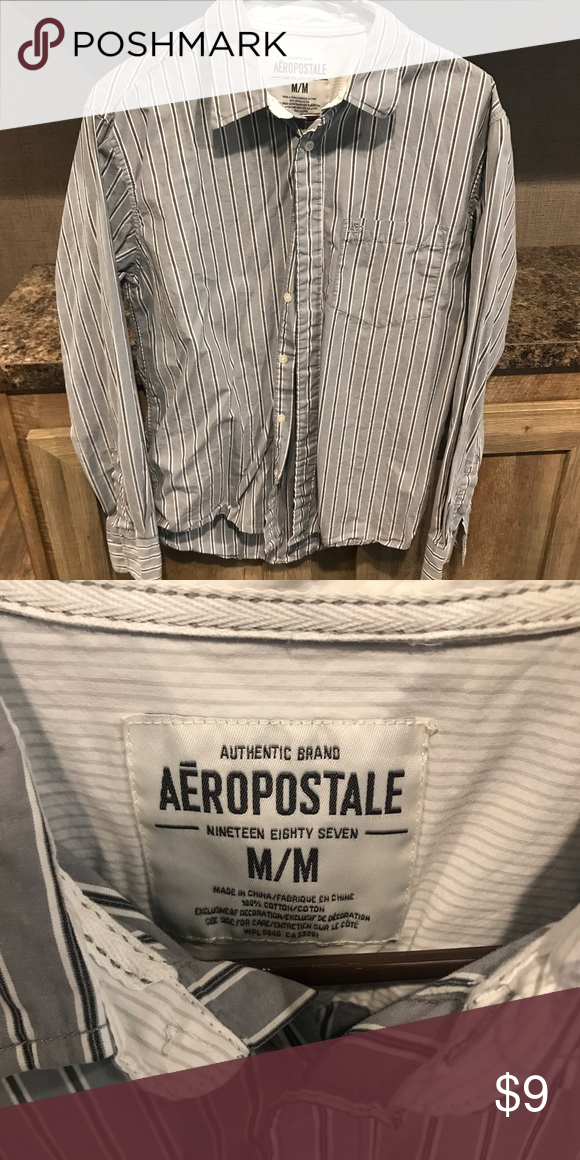 72b8fcad6712 Mens aero button shirt Needs ironed Aeropostale Shirts Casual Button Down  Shirts