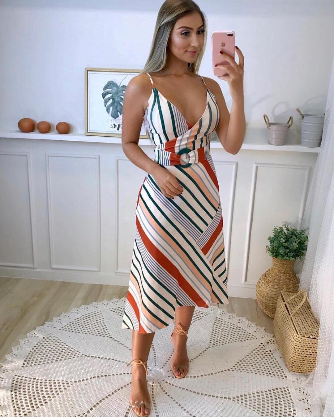 8507d01118 Cute striped sundress.