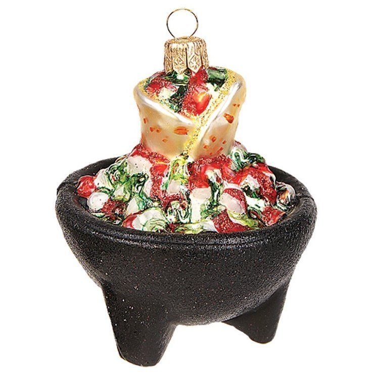 Pinnacle Peak Trading Company Salsa Bowl with Tortillas Polish Glass - polish christmas decorations
