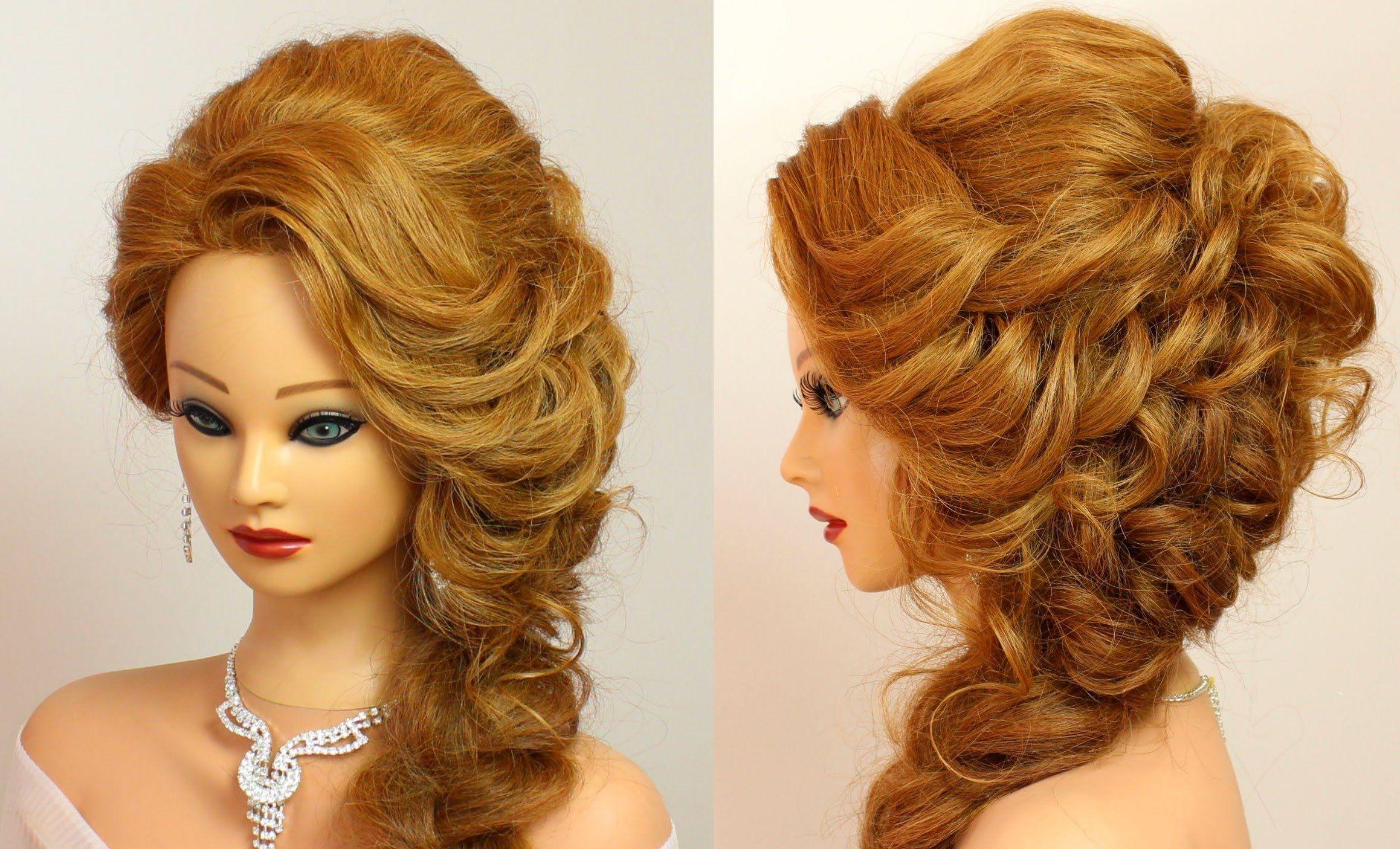 Prom Hairstyle For Medium Long Hair Tutorial Long Hair Tutorial Hair Tutorial Party Hairstyles For Long Hair