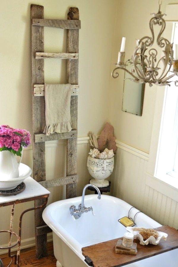 29 creative shabby chic bathroom decor plans you can do yourself for rh pinterest com