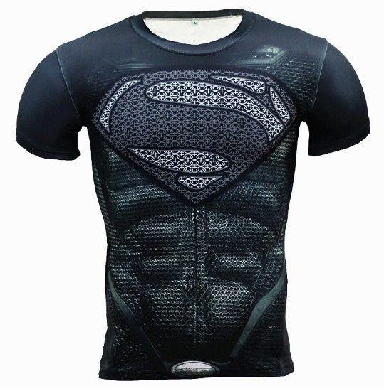 3D Print T-Shirt Superhero Crossfit Mens Style T Shirt