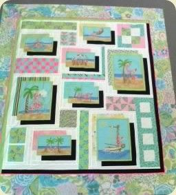 This whimsical quilt is made using Modas Beach Birdies panel of ... : quilt patterns with panels - Adamdwight.com
