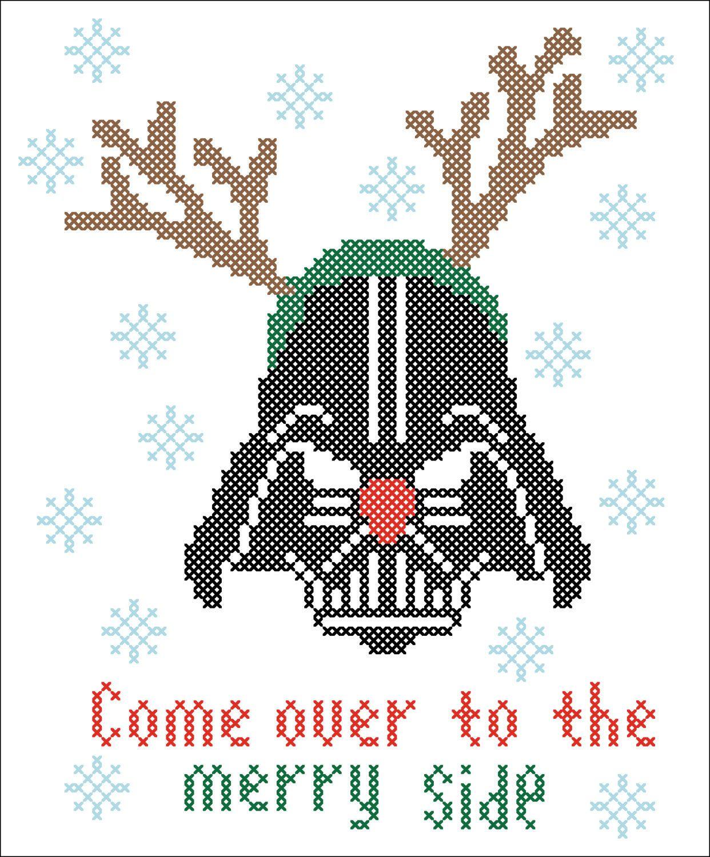 BOGO FREE! Merry Christmas - FUNNY Darth Vader Star wars Cross ...