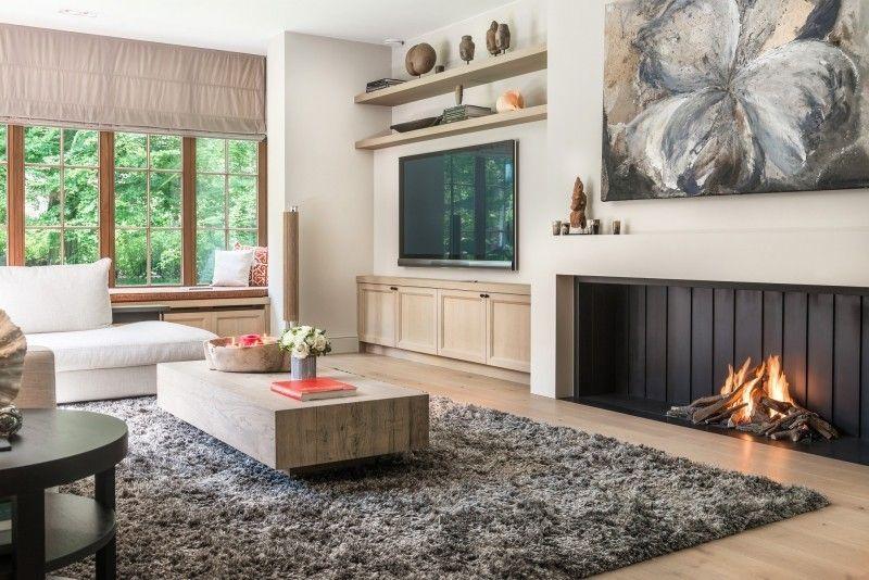 Interieur landelijke stijl woonkamer | Totaal realisatie S ...
