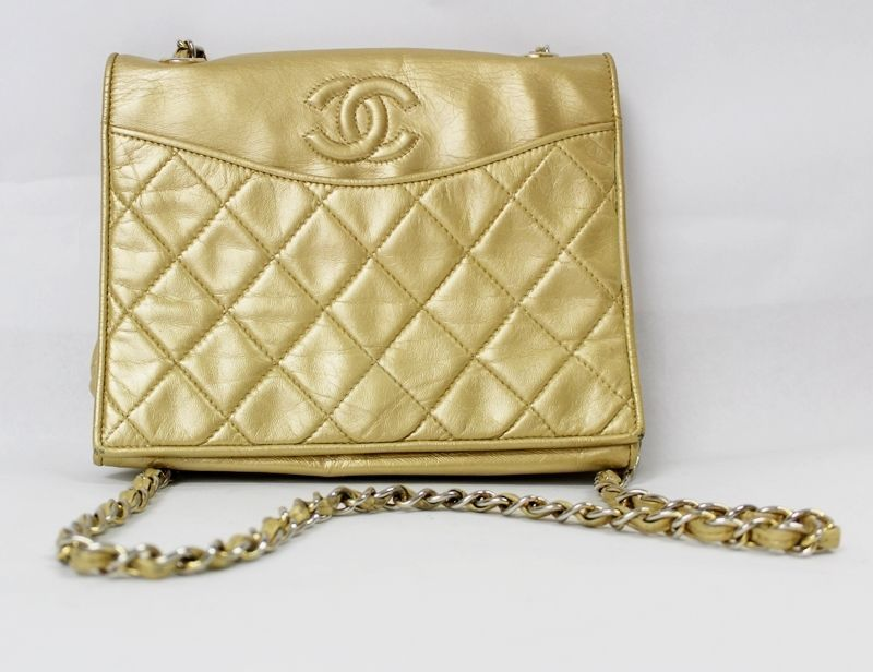 Chanel Vintage Flap Small Shoulder Cross Body Bag Cc Logo Quilted Gold Chain Chanel Shoulderbag Vintage Chanel Crossbody Bag Body Bag