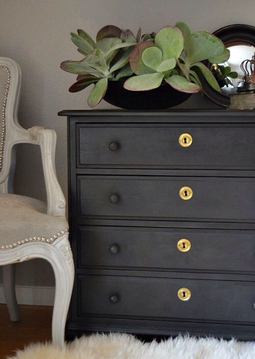 matte black our new home paint furniture painted furniture rh pinterest com