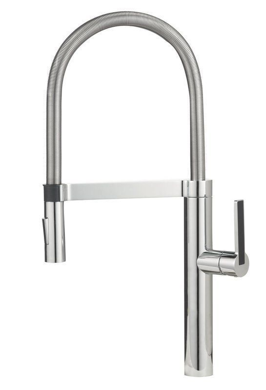linus pull out single handle kitchen faucet rh in pinterest com