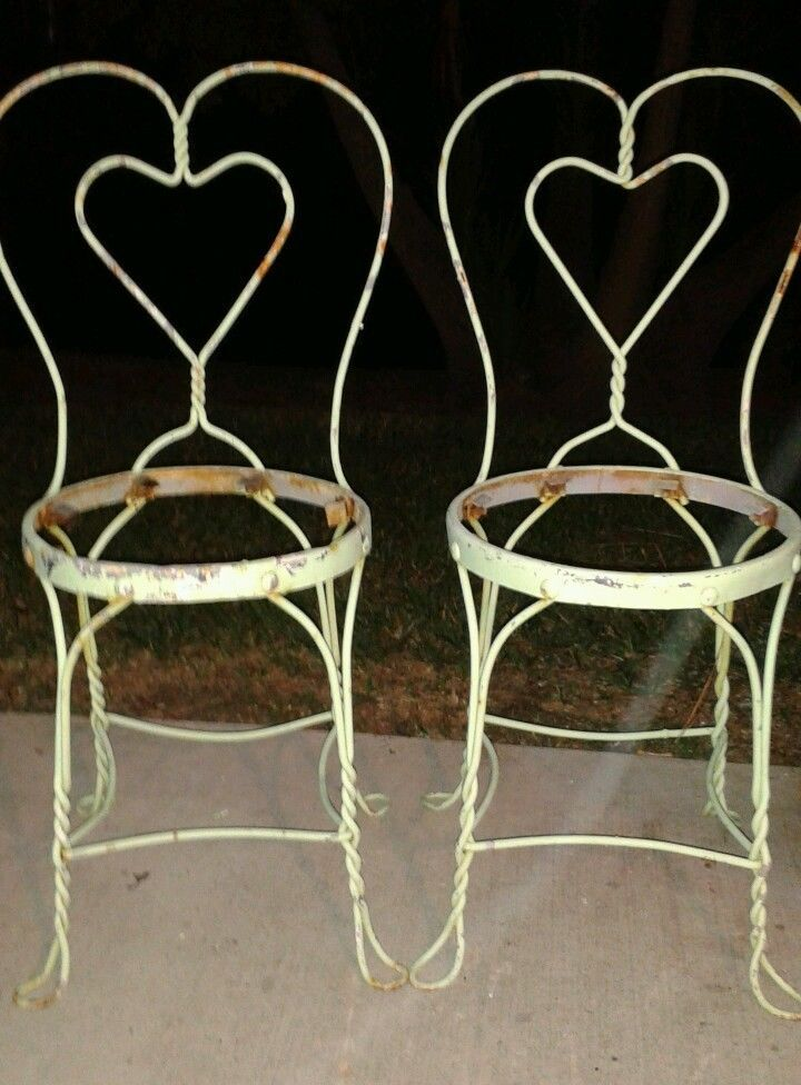 lot of 2 vintage ice cream parlor soda fountain chairs twisted iron rh pinterest com