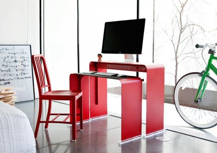 The Beautiful And Ergonomic OneLess Desk Nests Together To