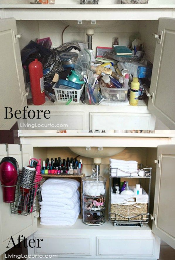 Before And After Cabinet Makeover Organising Your Bathroom Bathroom Organisation Bathroom Organization Diy Bathroom Cabinet Organization