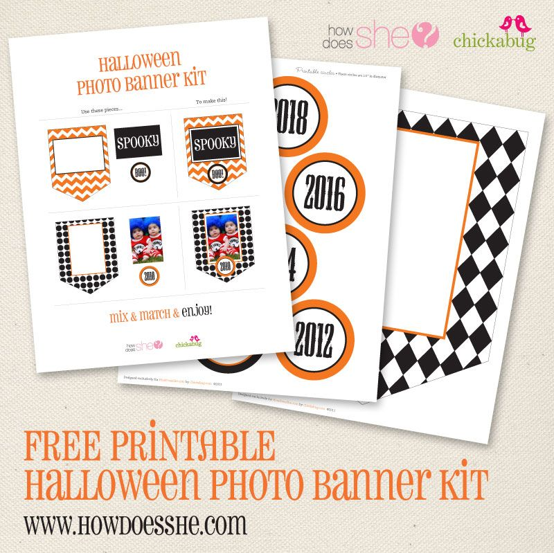 free printable halloween photo banner kit chickabug free rh pinterest com