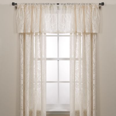 Branchbrook Window Curtain Panel In White Sheer Window Panels
