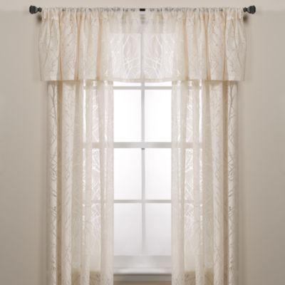 Branchbrook Window Curtain Panel In White Sheer Window Panels