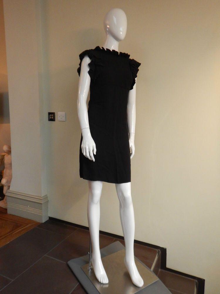 Balenciaga Black Silk Dress UK10/EU38