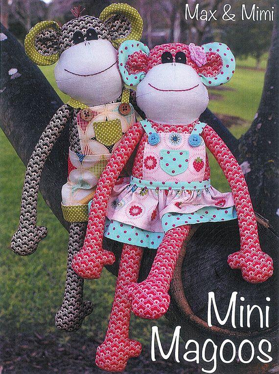 Pattern \'\'Mini Magoos\'\' Small Monkey Soft Sculpture, Stuffed Toy ...