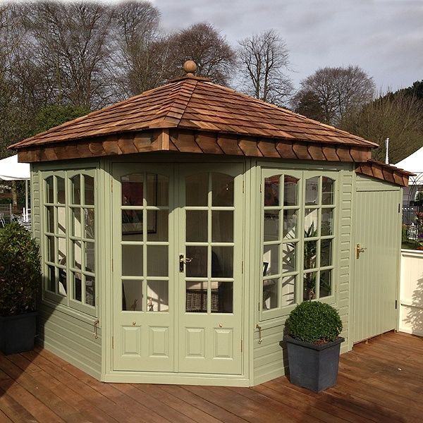 I like the way they've used the space at the back for storage and  presumably to square off the plot Malvern Clifton Summerhouse