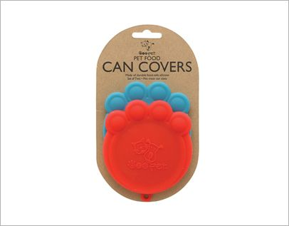 The Paw Can Cover Set features a smart design that's functional, fitting three standard can sizes (but fits most!) and is formed into a fun paw shape. Made from dishwasher-safe, flexible, functional, food-safe silicone, each set includes two can covers.