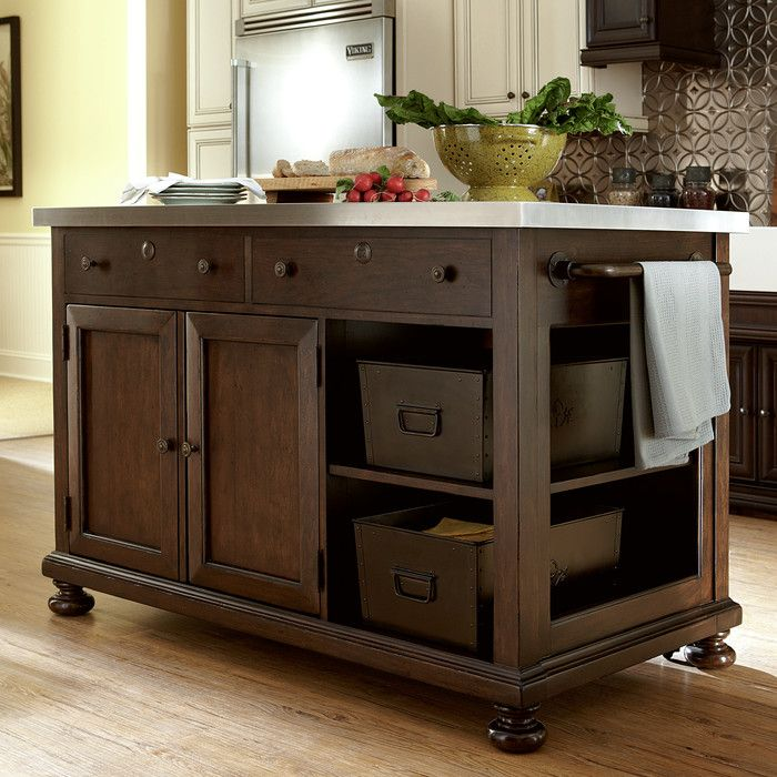 Harrison Kitchen Island Joss Main Freestanding Kitchen Island Kitchen Island Design Kitchen Island Storage