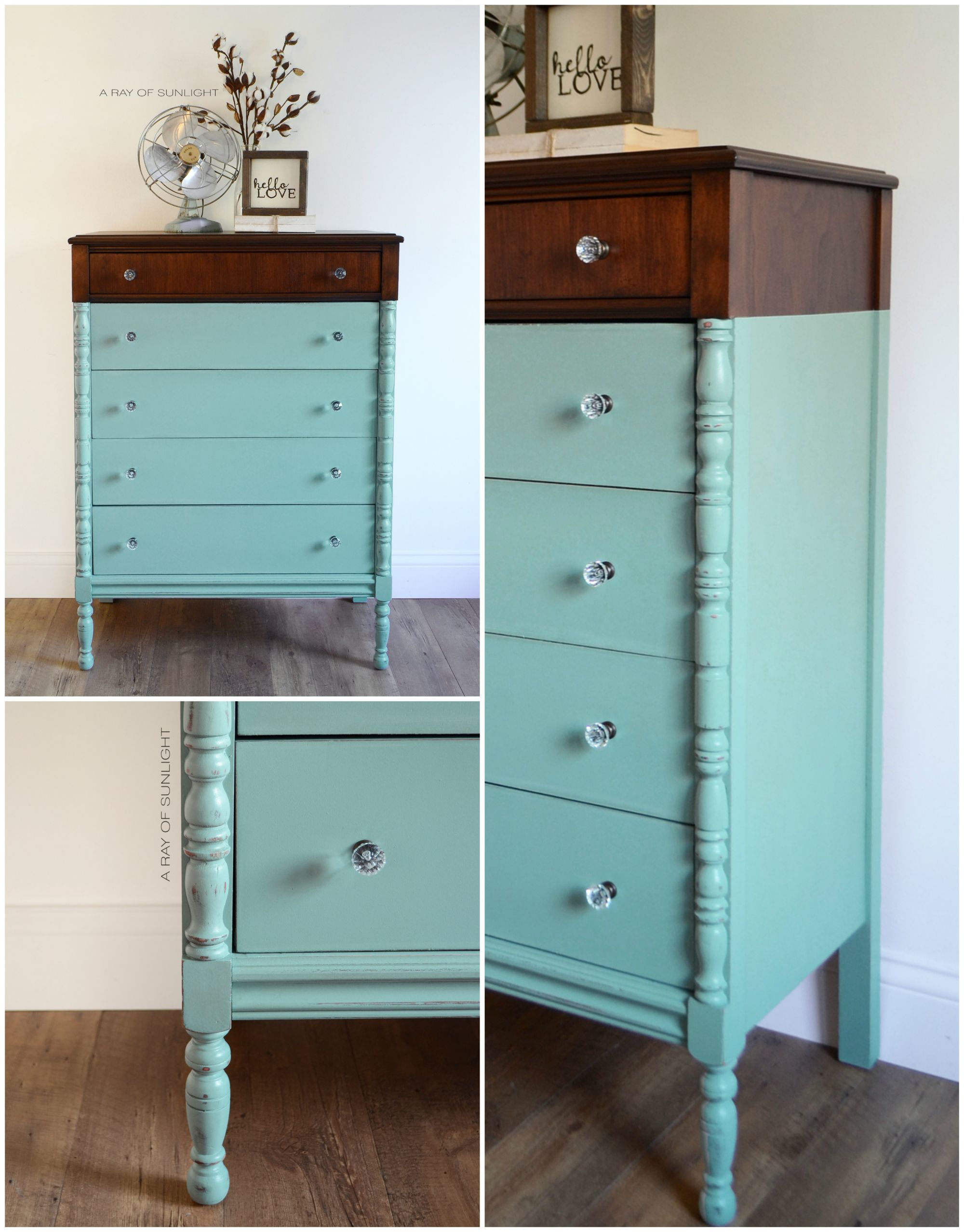 Paint Dipped Teal Dresser guest post
