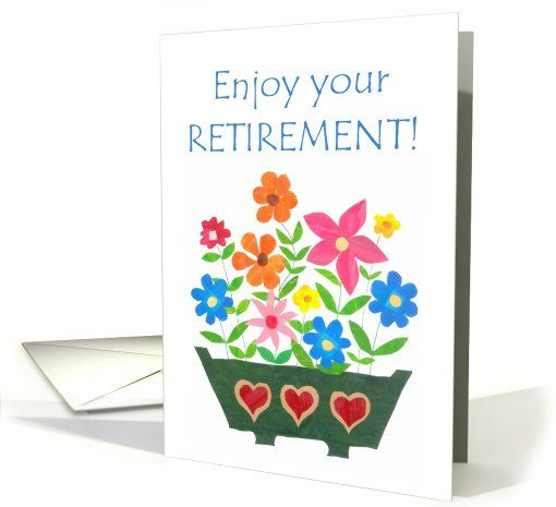 Retirement card window box of flowers up to 350 httpwww shop good luck card polish greeting flower power card created by helikettle m4hsunfo