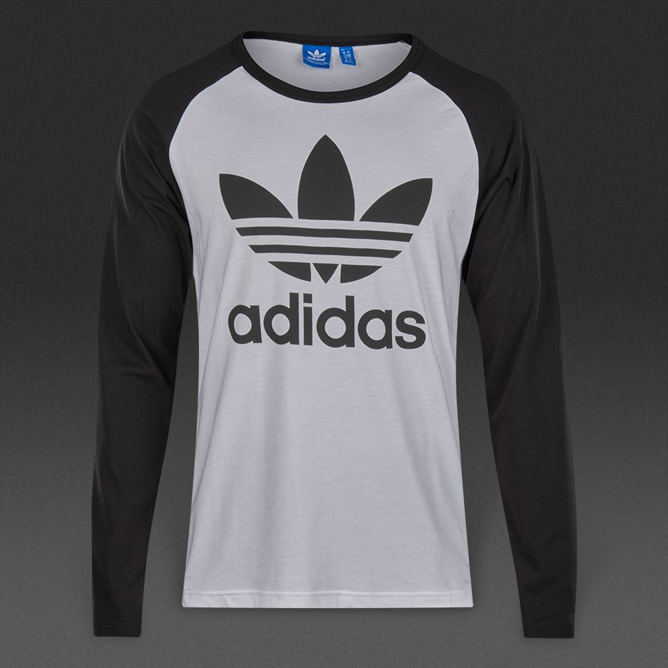 adidas Originals Adi Trefoil Logo L/S Top - White / Black
