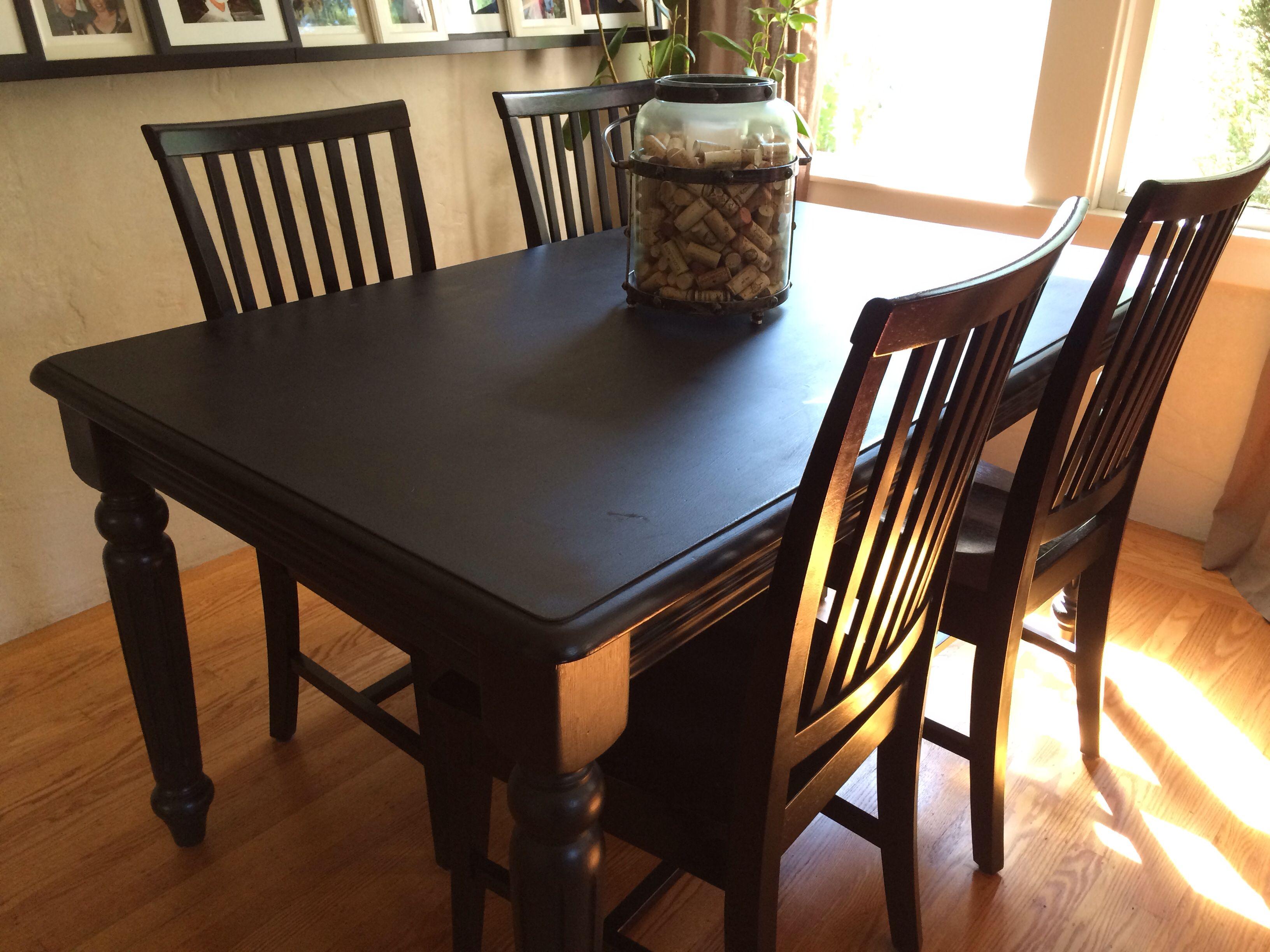 Vintage Farm Table Painted Black Seats Sixsince Our Dining Room Fair Dining Room Sets On Craigslist Design Ideas