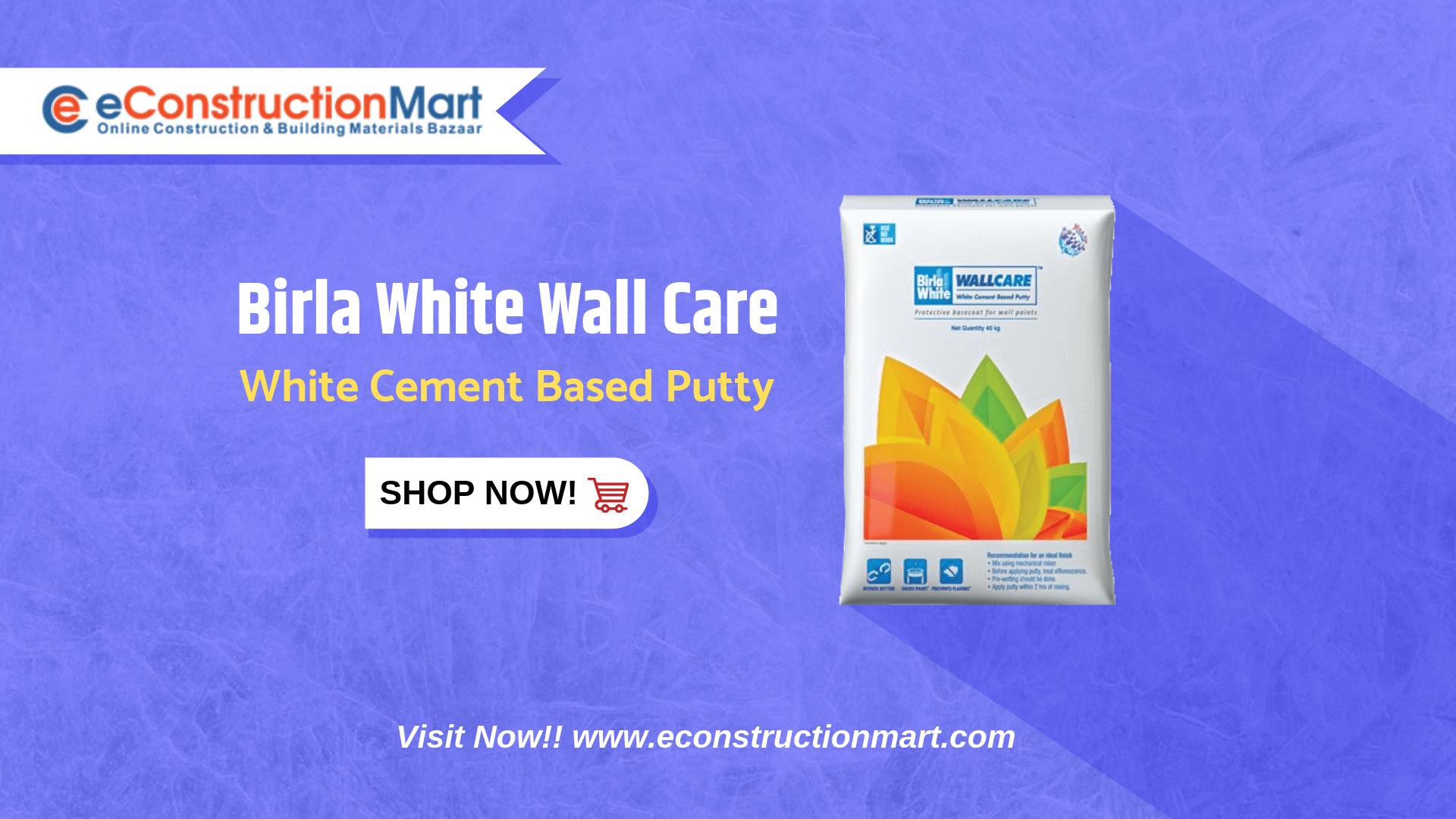 Birla White Wall Care Cement Concrete Cement Care