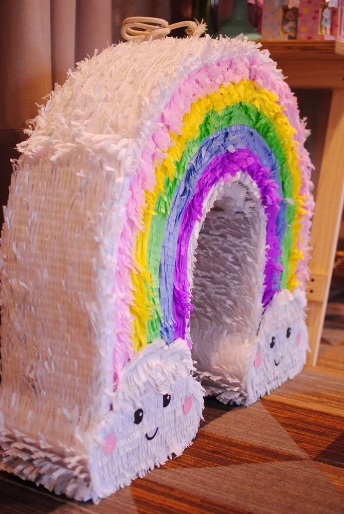 Photo of Don't miss the stunning pinata at this Rainbow Birthday Party!See more parties a…