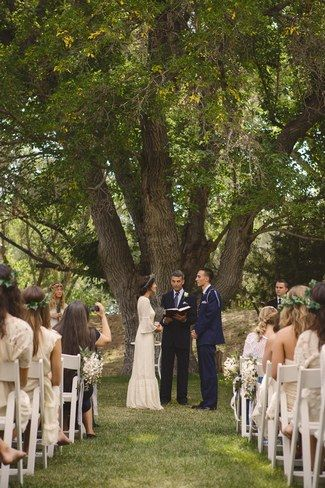 Relaxed Bohemian Forest Wedding New Mexico