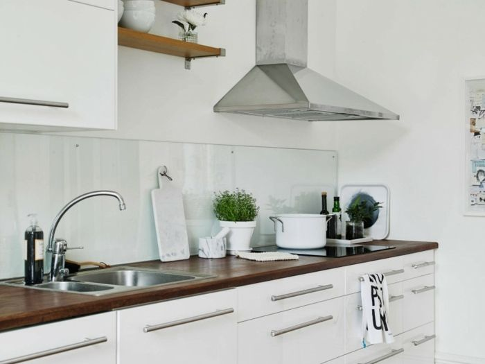 moderne Küche einrichten Ideen stilvoll attraktiv Küche - paneele kche gestalten