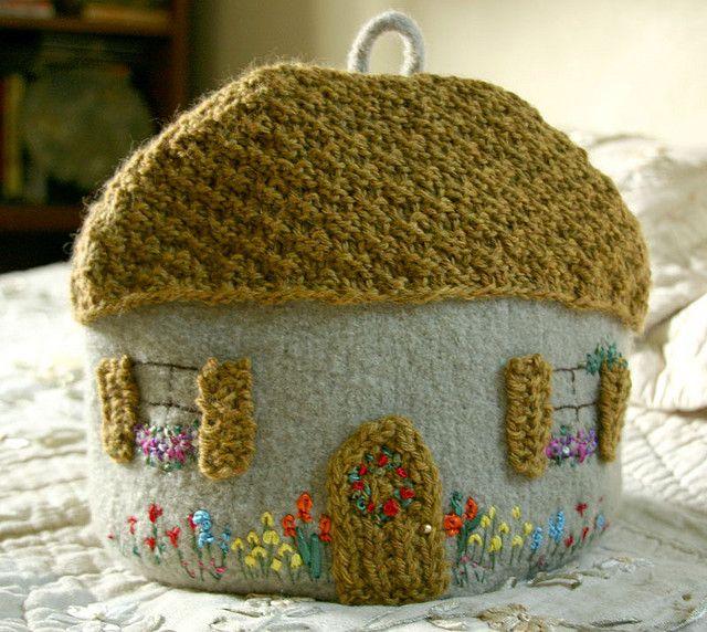 Cottage Tea Cozy Tea Cozy Knitted Tea Cosies Tea