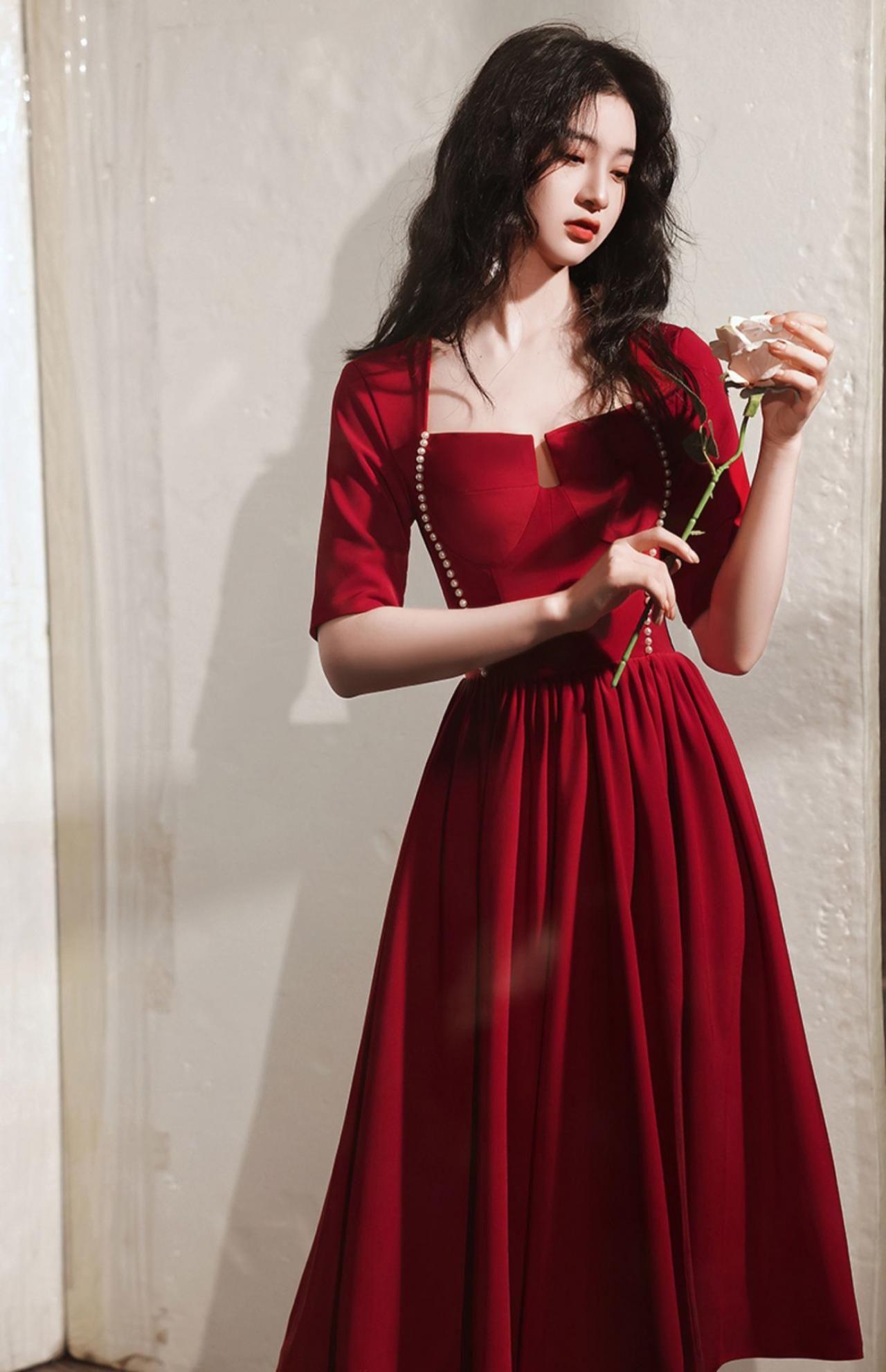 New Red Midi Dress Long Sleeve Red Dress Vintage Dress Custom Made In 2021 Red Long Sleeve Midi Dress Red Midi Dress Red Long Sleeve Dress [ 1982 x 1280 Pixel ]