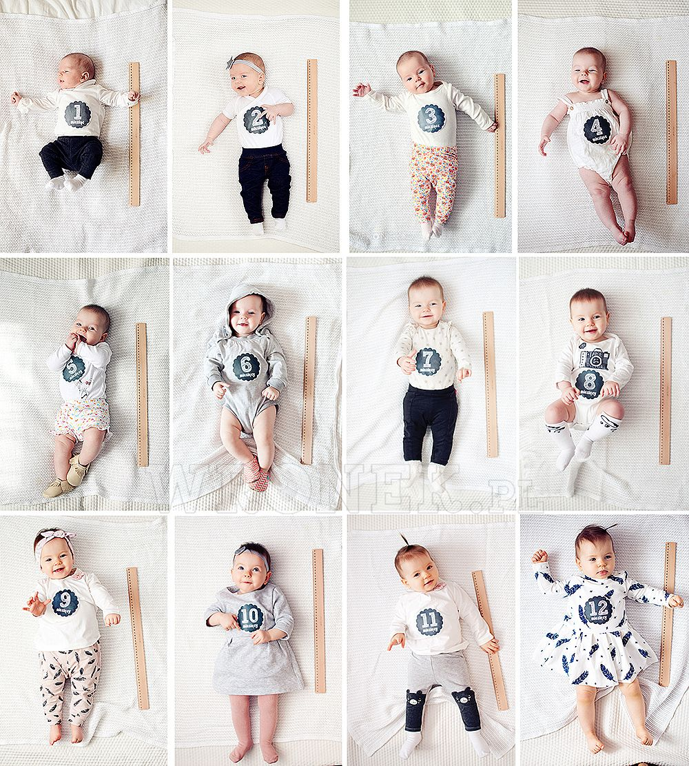 12 months photos - baby month by month pictures | Zdjęcia | Pinterest