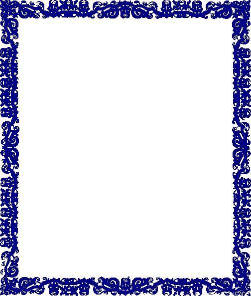 borders designs blue border design clip