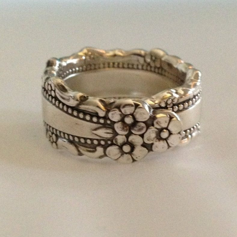Spoon Ring Royal Lace Choose Your Size 6 to 12 Vintage Silverplate ...