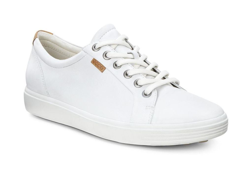 47bd3cdfc459f ECCO Women's Soft 7 Sneaker (WHITE) - $150.00 | Shoes | White shoes ...