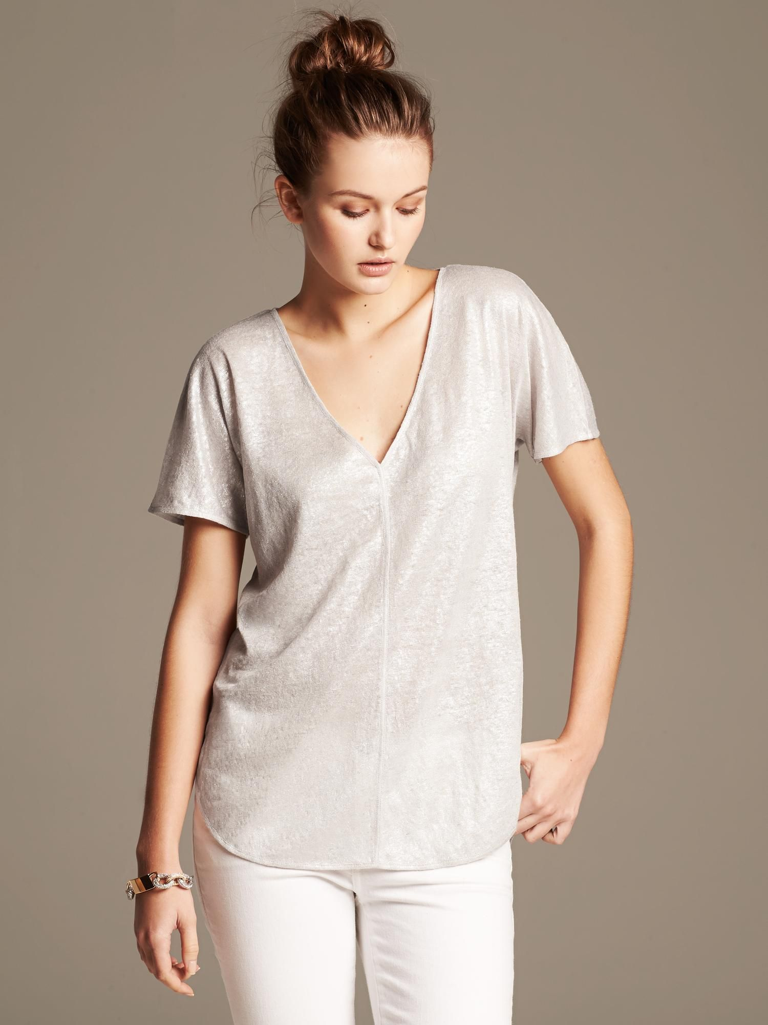 Banana Republic Foil Linen Tee 2014 Christmas List T