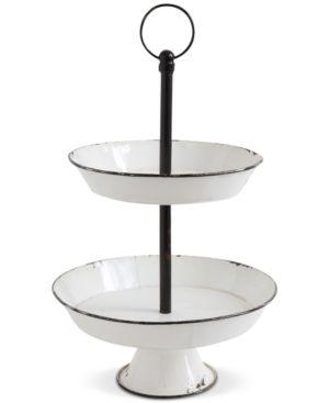 3r Studio Studio 2 Tier Decorative Metal Pedestal Reviews Serveware Dining Macy S Tiered Tray Metal Decor