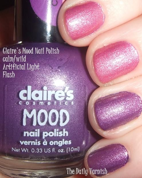 Claire\'s Mood Nail Polish calm wild hot cold | Beauty | Pinterest ...