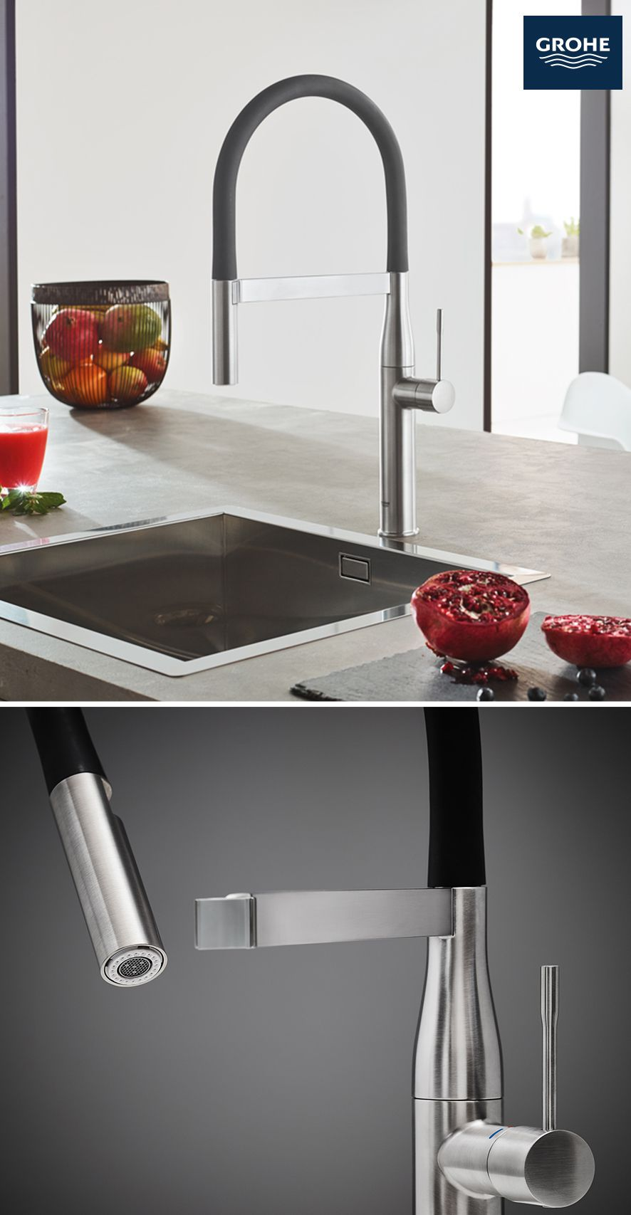 The Grohe Essence Semi Pro Kitchen Faucet Is Designed For