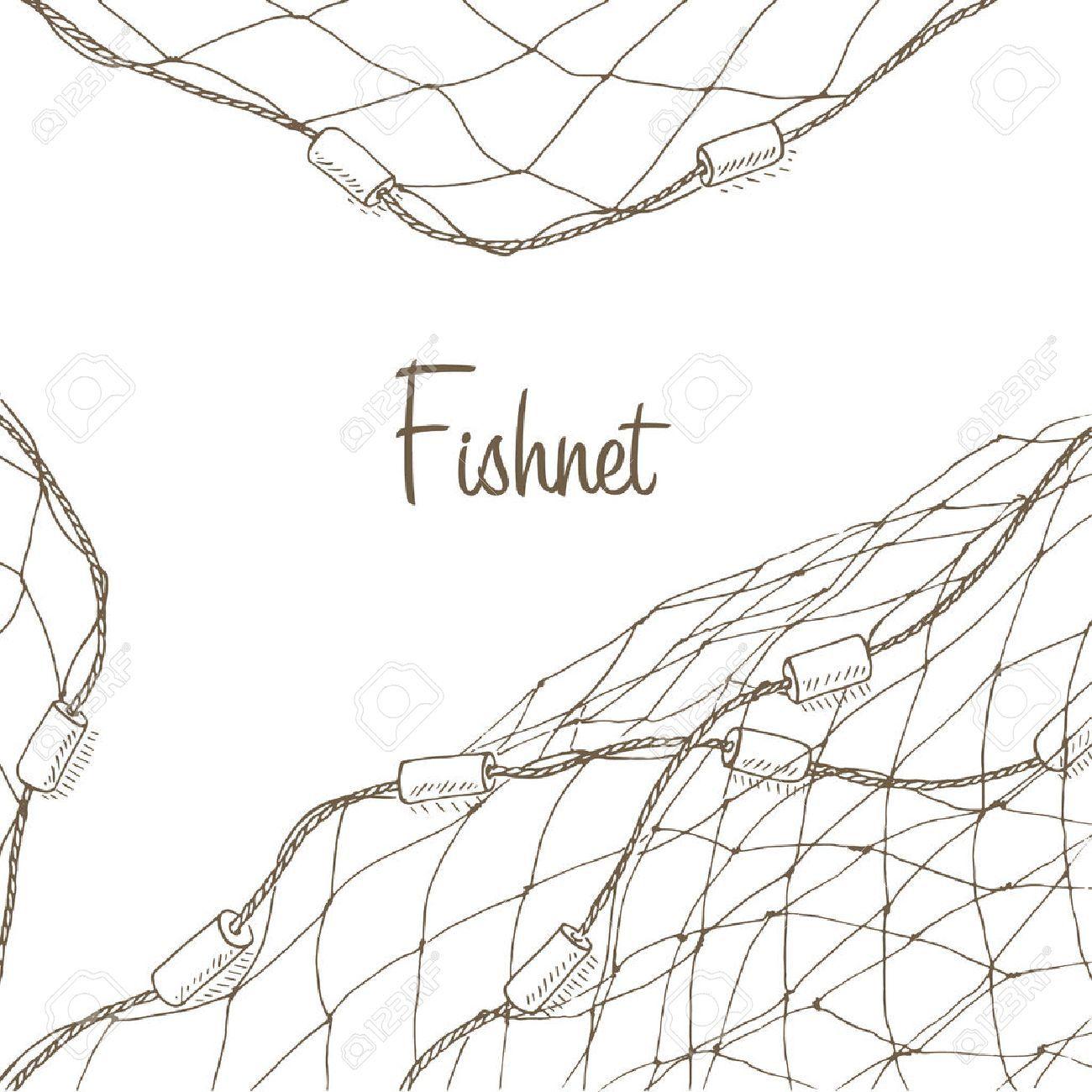 Image Result For Fishing Net Illustration Graphic Tshirt Design Endangered Species Art Hand Drawn Vector Illustrations