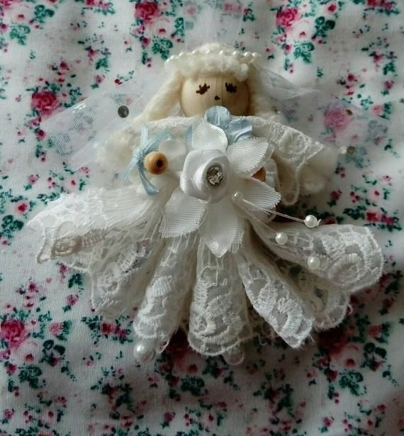 Handmade unique keepsake hanging bride doll wedding gift for the bride to be to have on her special day #bridedolls